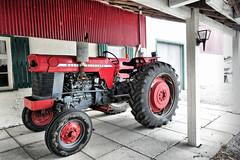 Massey Ferguson (gabi-h) Tags: red tractor ontario vintage farm tires farmequipment farmmachinery princeedwardcounty masseyferguson gabih