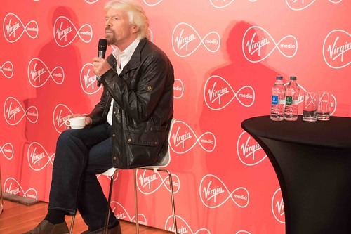 RICHARD BRANSON INTRODUCES VIRGIN MEDIA TO THE PRESS [1st. October 2015] REF-10858510