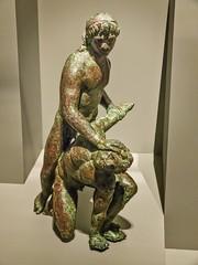 Triumphant Ptolemy Hellenistic Egypt 150-100 BCE Bronze (mharrsch) Tags: sculpture statue bronze ancient king wrestling egypt maryland victory triumph figurine submission hellenistic ptolemaic diadem 2ndcenturybce mharrsch waltersartmuseumbaltimore