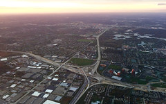 Itasca, 2015 (gregorywass) Tags: sky airplane highway northwest aerial schaumburg intersection interstate westin itasca 290