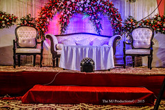 Wedding Ceremony! (themj_productions) Tags: flowers wedding pakistan lights groom bride hall photoshoot stage ceremony photographers marriage tent desi shooting coverage karachi sets valima portfolios themjproductions