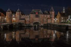 Koppelpoort Amersfoort (Jurn van Veldhuijzen) Tags: urban reflection tower water gate amersfoort curch koppelpoort langejan