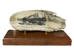 Late Afternoon in New Bedford Harbor (Scrimshaw Gallery) Tags: ivory sausalito bonecarving scrimshaw whaletooth scrimshawgallery scrimshander gerrydupont