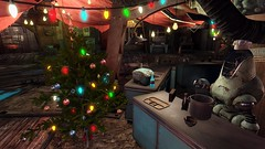 Fallout4 - Festive time of year (tend2it) Tags: christmas xmas city game color tree festive lights pc screenshot colorful december 4 decoration nuclear xbox dec diamond ornament 25 rpg future marketplace apocalyptic fallout injector postprocessing ps4 2287 reshade fallout4 screenarchery