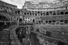 The Colosseum 17 (thanks for 650.000 hits) Tags: bw italy rome blackwhite ancient colosseum empire coliseum romans flavianamphitheatre canon6d tamron2470mm bmeijers bertmeijers