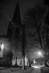 Path to Church (steelegbr) Tags: christmas trees light blackandwhite holiday building tower clock church monochrome grass religious concert worship path derbyshire religion seasonal christian event greyscale sawley allsaintschurch erewash