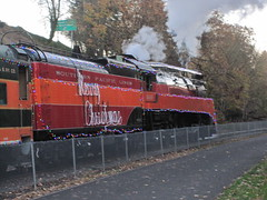 4449 shoves the Holiday Express towards OMSI (Tysasi) Tags: train steam passenger ept 2015 sp4449 holidayexpress
