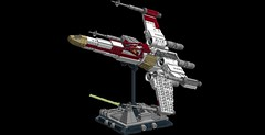 X-Wing 1s=f: Display Stand (picardsbricks) Tags: starwars lego deathstar porkins yavin