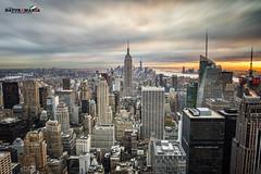 Sunset New York (Alberto Cicchino) Tags: new york sunset usa manhattan lee empire palazzi filtri