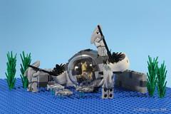 Day 361 of 365: Deep Sea Fishing (dr_spock_888) Tags: star shark lego submarine atlantis jar warrior wars 365 fishes spear binks moc