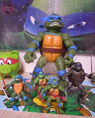 """Nickelodeon """"HISTORY OF TEENAGE MUTANT NINJA TURTLES"""" FEATURING LEONARDO -  'MOVIE STAR' LEO x / ..Classic Movie LEOs group shot (( 2015 )) (tOkKa) Tags: toysrus toysrusexclusive nickelodeon tmnt tmntclassics 1990movieleonardo 2014 teenagemutantninjaturtles historyofteenagemutantninjaturtlesfeaturingleonardo toys figures leonardo 2015 displaystand playmatestoys bootleg tmntmovie4 2007 moviestartmnt 1992 giantmoviestartmnt toontmnt ninjaturtlesthenextmutation 4kidstmnt tmnt2003 paramountsteenagemutantninjaturtles varnerstudios 1993 1988 2006 2005 2012 tmntfastforward paramountteenagemutantninjaturtles tmnt2014movie eastmanandlairdsteenagemutantninjaturtles comic toonleo turtlemilkstudios davearshawsky imagesrctokkaterrible2zcom"""