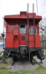 St. Paul, Virginia (5 of 6) (Bob McGilvray Jr.) Tags: railroad red train private virginia nw steel tracks stpaul caboose business va cupola norfolkwestern