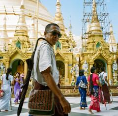 pagoda style (film) (bogey!) Tags: yangon rolleiflex mediumformat people street myanmar iphoto film analog rangoon
