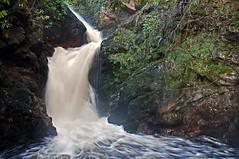 The Falls (Lee Carson) Tags: trees tree water silhouette scotland waterfall highlands nikon scenery december walk falls burn golspie 2015 mrlee d90 outdooors golspieburn nikond90