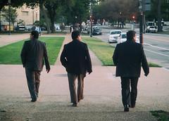 Rule of Three (MikeSpeaks) Tags: three washingtondc nationalmall streetphotography businessmen clones