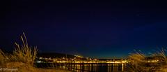 Night in sands (MF-otografie) Tags: stars light city beach outdoor long exposure plants sea sand reflections night spain