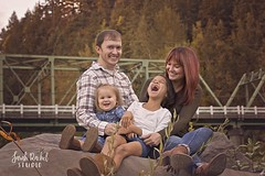Family smiles (Sarah Novak Rachel) Tags: family outdoorportrait autumn bridge troutdale