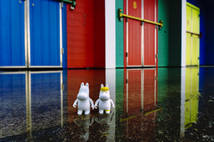 Moomins and beach huts (World of Oddy) Tags: moomins barryisland beachhuts