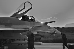 (aeroman3) Tags: air avion cplmarcandregaudreault opmobile11 sunset sunrise cf18 cf188 acaf hornet 425tacticalfightersquadron norad nato trapani sicile italie