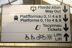 Platform 0, Cardiff Train Station (the_amanda) Tags: cardiff wales train station sign platform zero