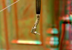 Drill Dentist 3D (wim hoppenbrouwers) Tags: kunsthal rotterdam anaglyph stereo redcyan drill dentist 3d kwakzalverstandentrekkers