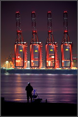 Liverpool Two Deep Water Container Terminal 30th October 2016 (Cassini2008) Tags: liverpooltwodeepwatercontainerterminal wirral newbrighton fishing fisherman rivermersey reflections portofliverpool peelports