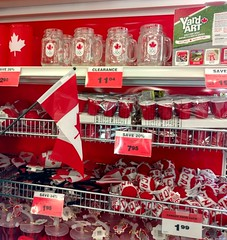Canada display (ctmarie3) Tags: canmore canadiantire vermilionlakes canadianflag