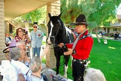 20161108 The Singing Cowboy (Gary Sprague) and Dusty (lasertrimman) Tags: gary sprague garysprague the singing cowboy dusty thesingingcowboyanddusty wooddale village wooddalevillage ruthgilmartin ruth gilmartin ruthtouchingdusty