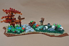 9 Kingdoms Freebuild: Sheep Flock (Balbo Second Account) Tags: lego moc sheep brandküste schaf butterfly creation bauwerk