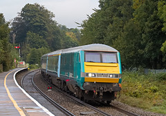 67022 with DVT 82307 1V91 0533 Holyhead - Cardiff at Abergavenny 23.09.2016 (1) (The Cwmbran Creature.) Tags: british rail class railway train 67 wag wales assembly government gerald arriva atw trains premier service