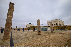 Incomplete site and the Mausoleum (T   J ) Tags: morocco rabat fujifilm xt1 teeje fujinon1024mmf4