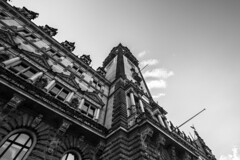 - Town Hall Look UP II - (Mr. LookUP) Tags: blackandwithe blackwhite bw building hamburg townhall unique 2016 lookup looking upwards wideangle canon 60d 1022mm architecture architektur schwarzweis