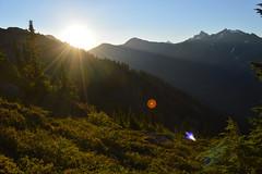 Sunrise over Swamp Creek (Sotosoroto) Tags: backpacking hiking washington cascades mountains northcascades yellowasterbutte sun sunrise dawn