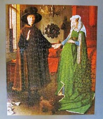 The Marriage of Giovanni Arnolfini (pefkosmad) Tags: jigsaw puzzle leisure hobby pastime complete fineart art painting janvaneyck arnolfini wedding marriage 450pieces