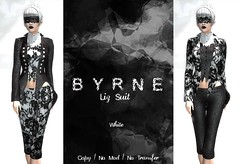(BYRNE) LizSuitAD-White (ByrneDarkly-www.tartiste.wordpress.com) Tags: byrne scaremesilly fashion halloween mesh suit capris jacket womens