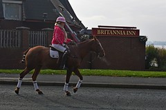 young lady going past the Brittania (napoleon666uk) Tags: liverpool international horse festival liverpoolinternationalhorsefestival horseshow echoarena animal parade