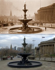 William Brown Street, 1910s and 2016 (Keithjones84) Tags: liverpool oldliverpool thenandnow history localhistory merseyside rephotography