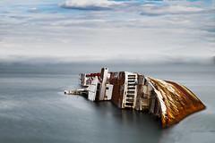 Shipwreck (nkalgr) Tags: fujifilm fuji xe2 shipwreck sea greece rust ship eleusis longexposure fujifilmxe2 vivid filmsimulation nd neutraldensity nd10x haida xc1650mmf3556ois 1650