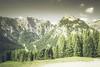 Gebirge Mountains (0238A) (Phil Bagnall) Tags: achen achensee alpine alps austria buchau europa europe gebirge karwendel maurach rofan cloud holiday landscape mountain summer vacation forest monochromegreen pertisau österreich