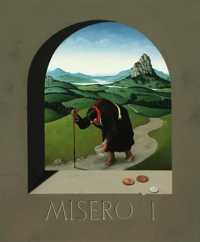 John Stark 'The Beggar (Human Conditions 1)', 2016 Oil on wood panel 60x50cm