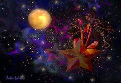 Dreaming (brillianthues) Tags: night nightlife moon fairy stars colorful collage photography photmanuplation photoshop