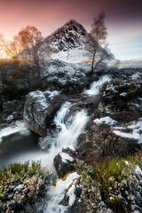 Beautiful Glencoe (devlin11) Tags: glencoe water winter waterfall tranquil tree travel magic mountains mountain nikon buachaille exposure highlands scotland scenery sunset