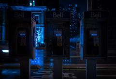 Please Lift Receiver (BB ON) Tags: toronto ontario canada night rain city building cyberpunk bladerunner payphone vfd phone display bell sherbourne stjamestown urban wet dark outdoor
