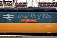 43002 (stavioni) Tags: class43 hst high speed train inter city intercity 125 retro livery 43002 253001 sir kenneth grange nameplate w43002 fgw gwr paddington first great western railway rail diesel