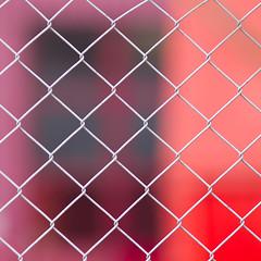 protection against the war of reds (zeh.hah.es.) Tags: zaun fence holcim schlieren ktzh schweiz switzerland gitter grid rot red violet violett purple magenta grau gray grey diagonal
