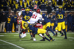 IMG_8489 (samiistoloff) Tags: football michigan michiganfootball maize umich emotion jimharbuagh jumpman uofmich theteam ncaa nike bigten bigtennetwork btn btnxtakeover blue harbuagh celebration wolverines class project aptop25 rain jordan photographer si110 sports likes photos white red photo indiana hoosiers jakebutt snow