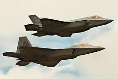 F35 & F22 - RIAT 2016 (Airwolfhound) Tags: f35 f22 riat fairford