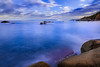 Blue Waves (signer.robert) Tags: bw landscape tropea water nd sky seascape clouds longexposure calabria sea