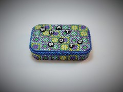 Granny Squares Afghan What Not Box (polymerclaycreations) Tags: ooak crochet polymerclay grannysquares pcagoe monthlychallenge polymerclaycreations angelahickey