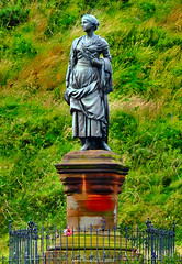 Scotland West Highlands Dunoon a statue to Highland Mary who was a girlfriend of Scottish poet Robert Burns 8 August 2015 by Anne MacKay (Anne MacKay images of interest & wonder) Tags: west robert statue by anne scotland highlands girlfriend mary picture scottish 8 august highland burns poet mackay dunoon 2015 xs1